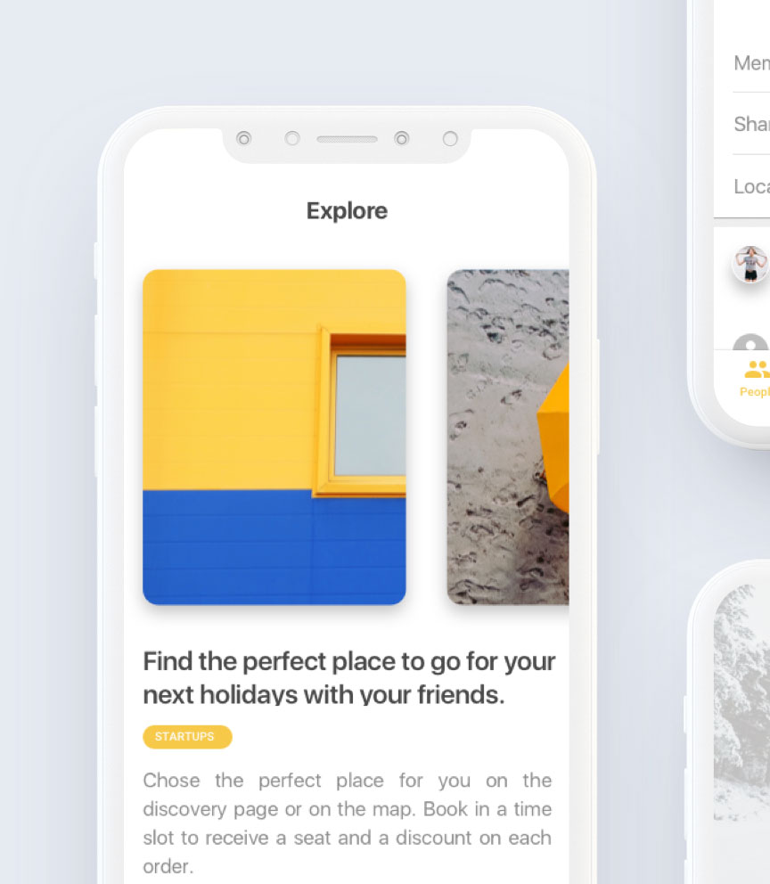 startup mobile app screens