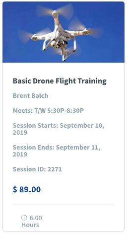 Basic Drone Flight Training Image & Class Promotion