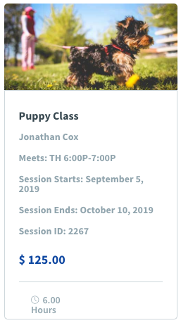 Puppy Class Image & Class Promotion