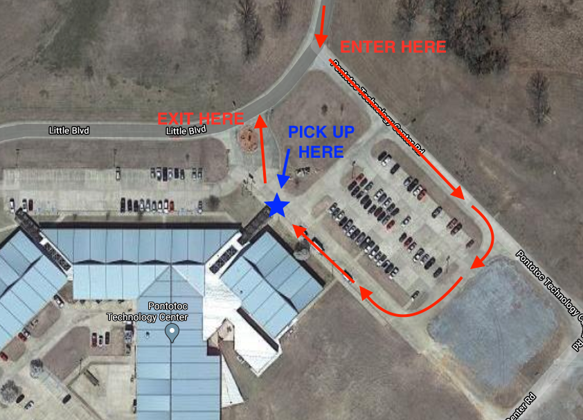 Image of map showing pickup instructions