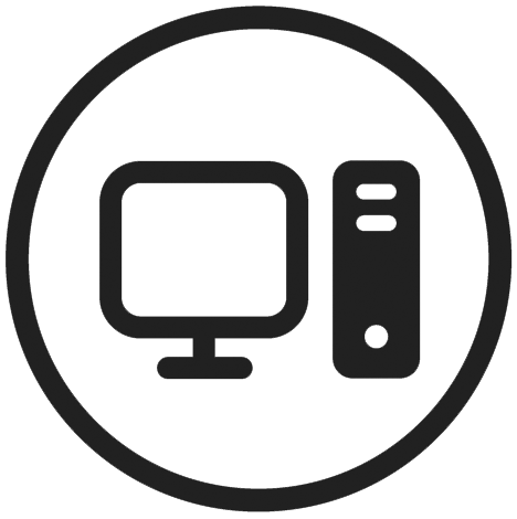 Logo of a computer and monitor