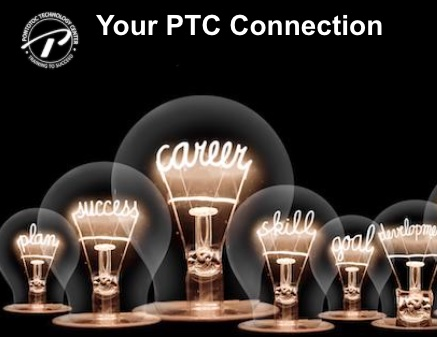 A photo of lightbulbs with filiments showing the words success, career, skill, goal, and other positive words.