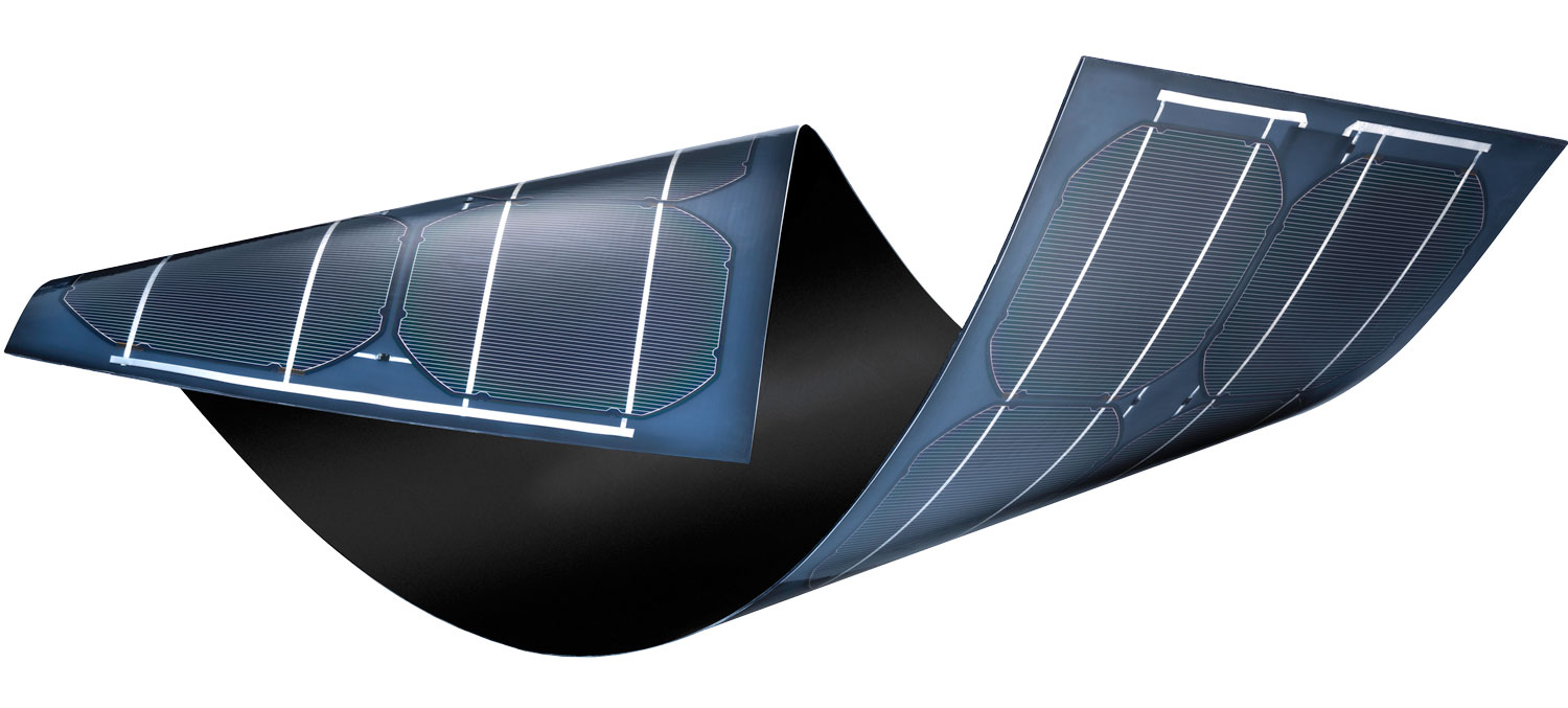 Sunflare thin, lightweight flexible solar panel