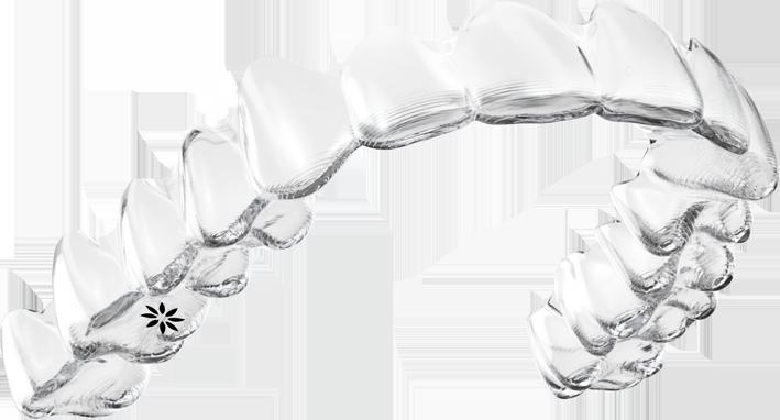 Photo of clear invisalign teeth