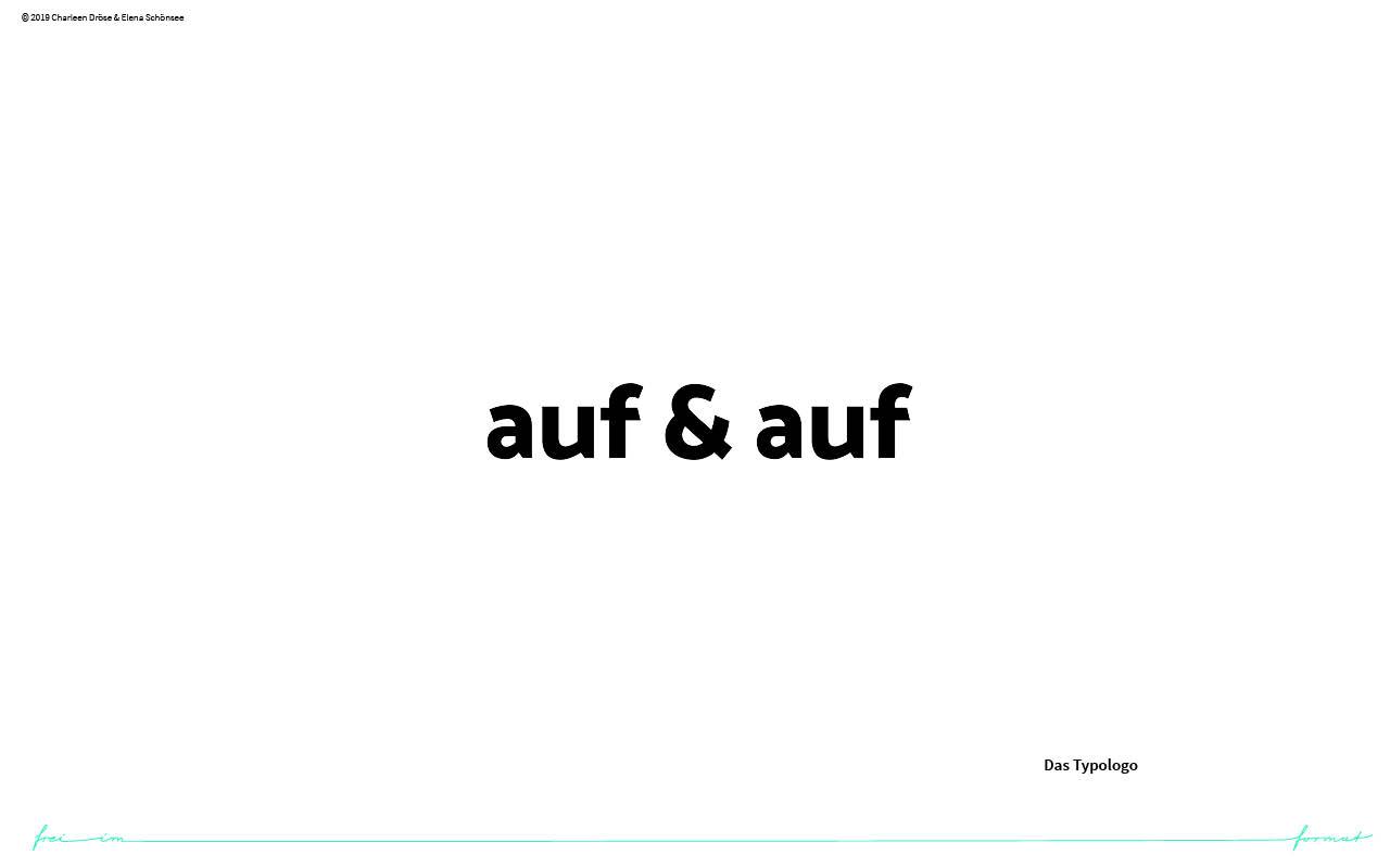 Einblicke in den Styleguide von auf & auf. Die Wortmarke.
