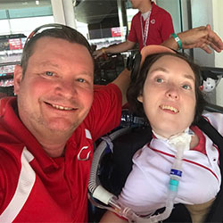 Rick and Catie at Reds Game