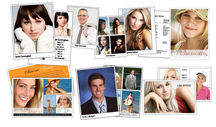 Create your Comp Cards, Headshots & Zed Cards online