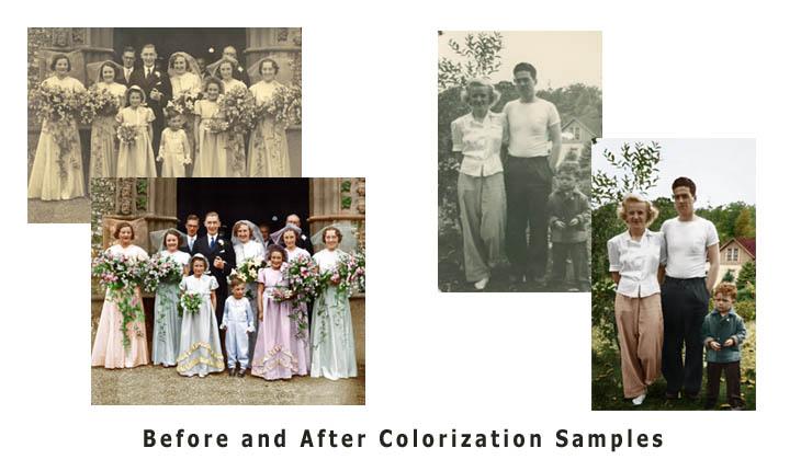 Photo Retouching, Restoration & Colorization