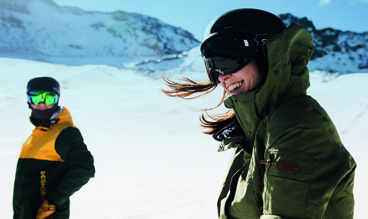 Picture © Planet Sports: Winter sportswear in action