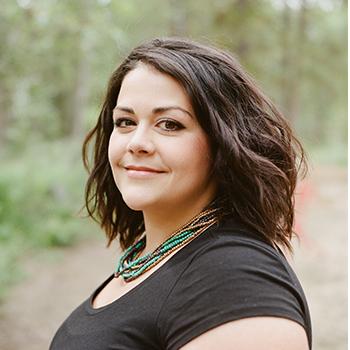 Portrait of Erica Keenan on her wedding day