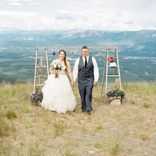 Erica & Tom Get Married on Top of Mount Sima in the Yukon
