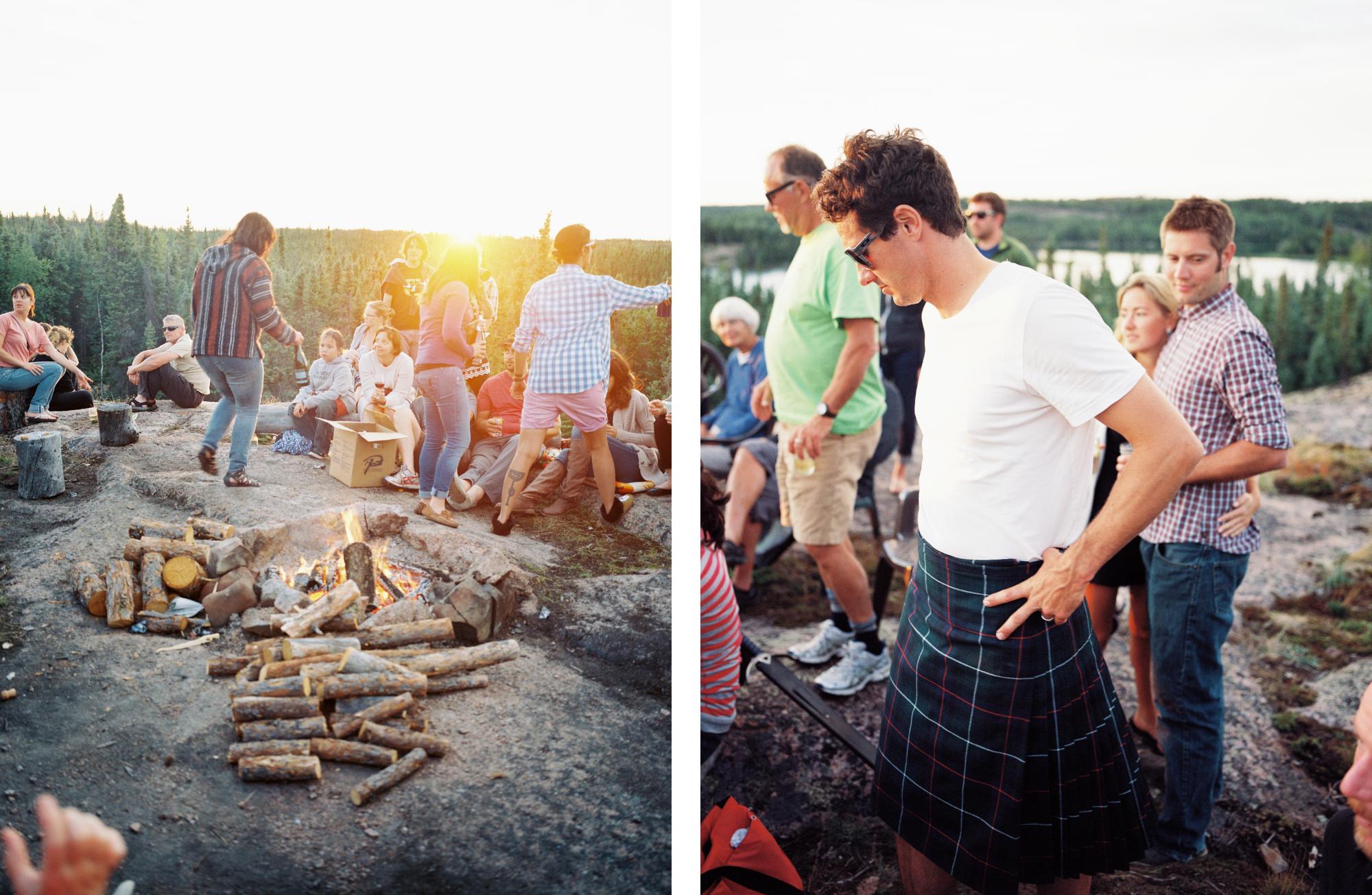 Post wedding day bonfire