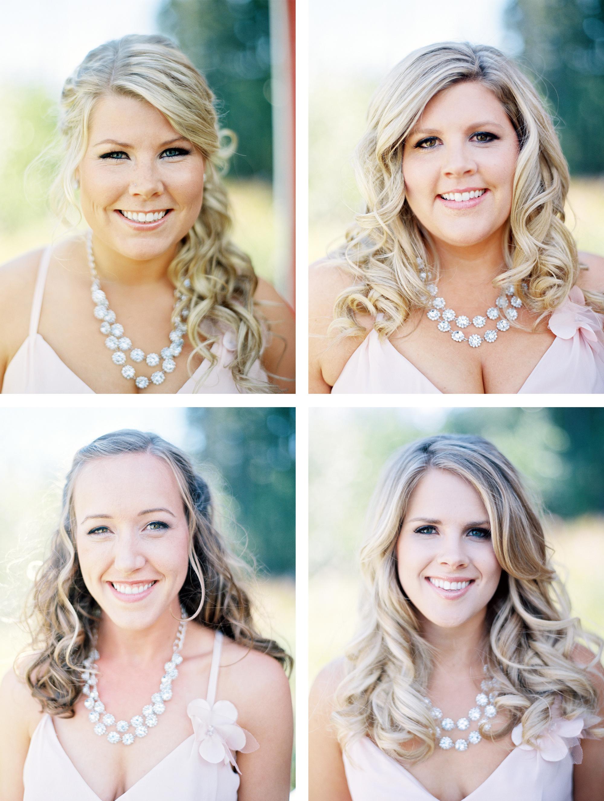Portraits of bridesmaids