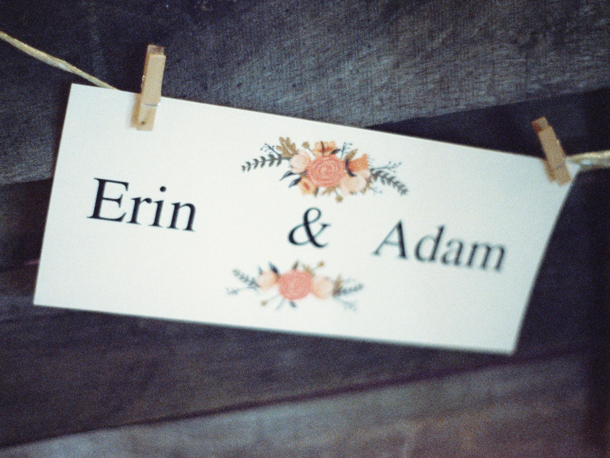 Wedding seating tag idea