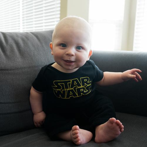Wyatt Taking Part in Star Wars Day