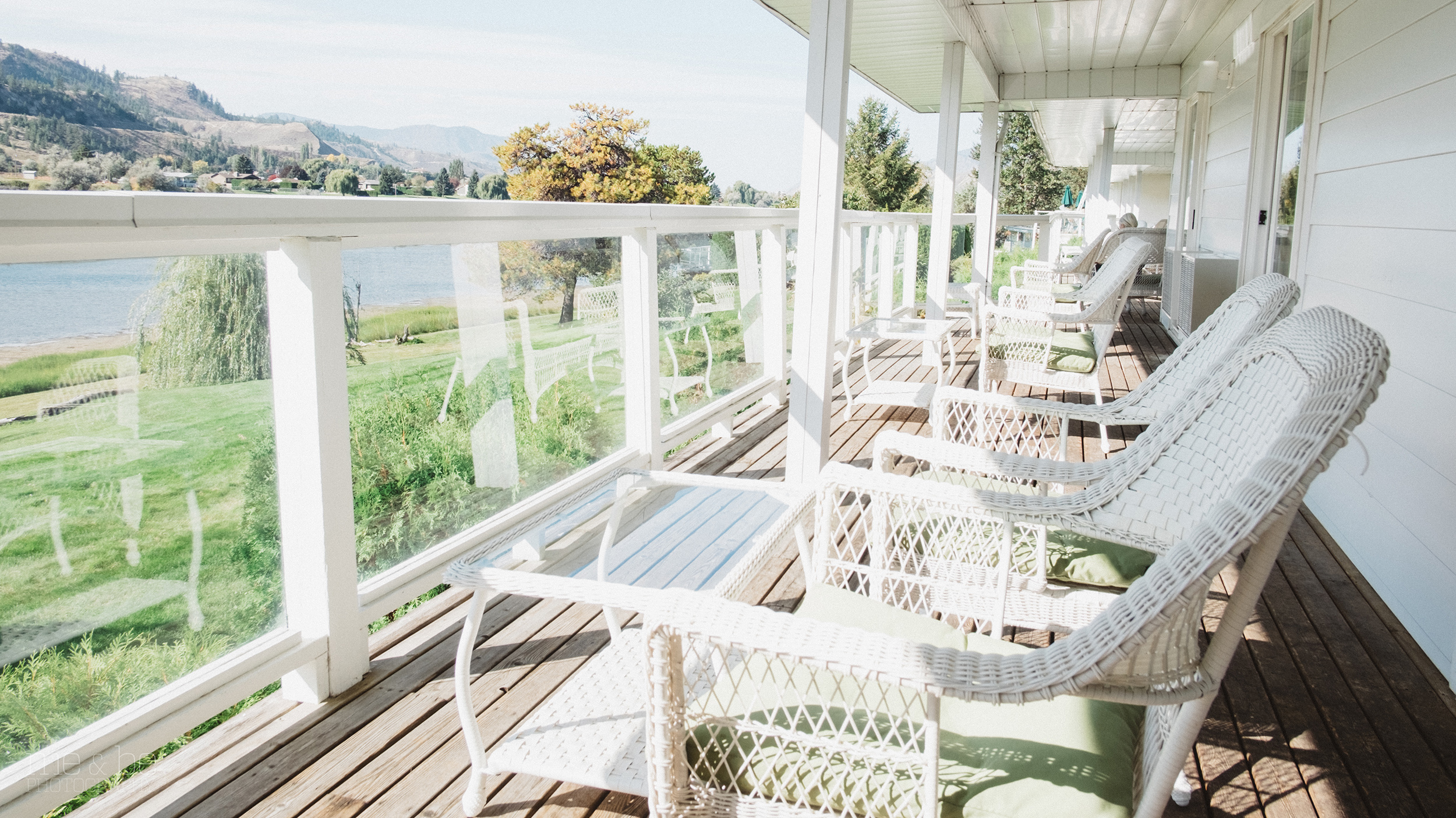 Sundeck at the South Thompson Inn & Conference Centre.Patio
