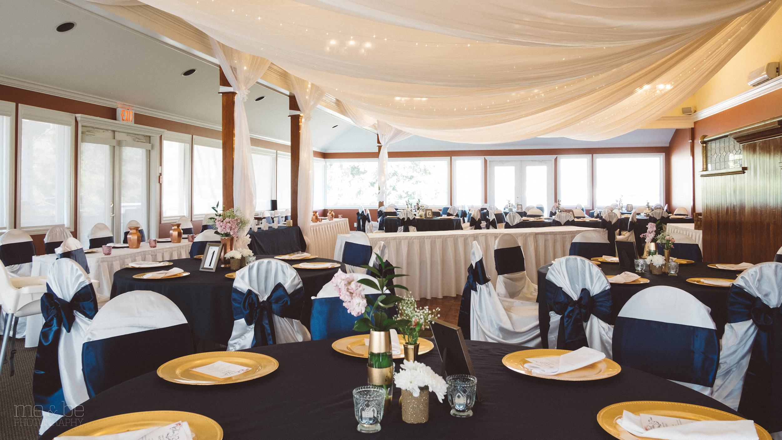 Wedding decorations set-up in the Somerset room at the South Thompson Inn & Conference Centre.