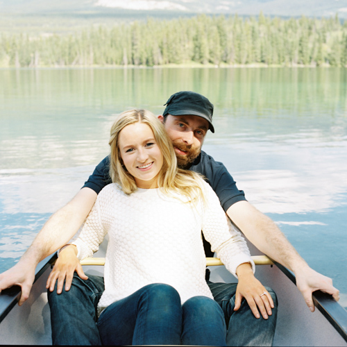 Mary & Blake Take a Canoe on the Lake for Engagement Photos