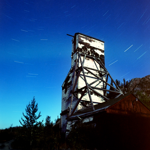 Star Trails at Giant Mine
