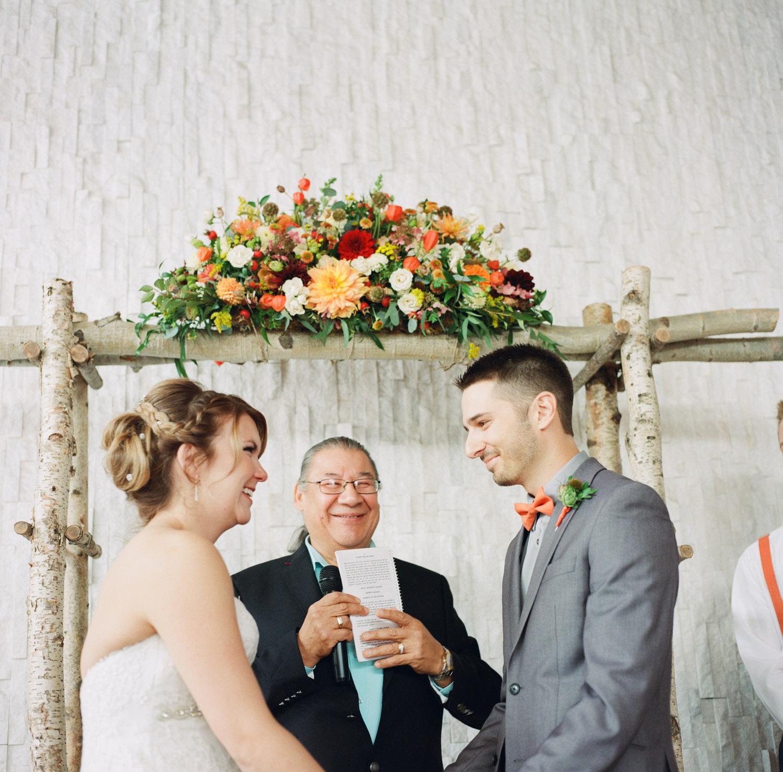 Ceremony in Kamloops at Hotel 540 wedding.