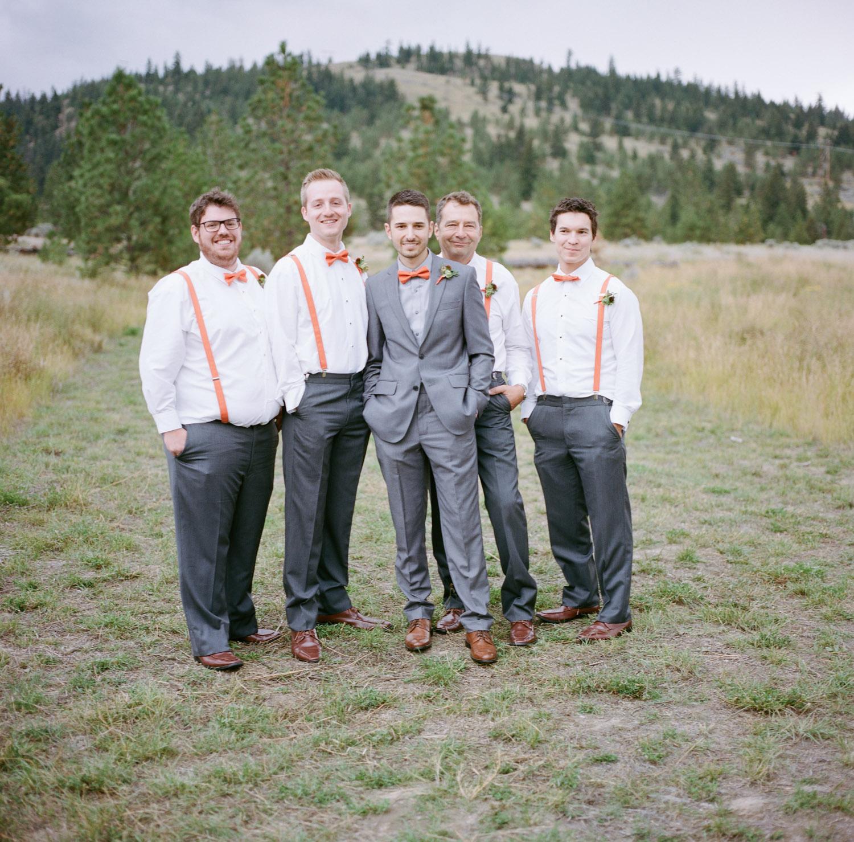 Groom with groomsmen in Kamloops.