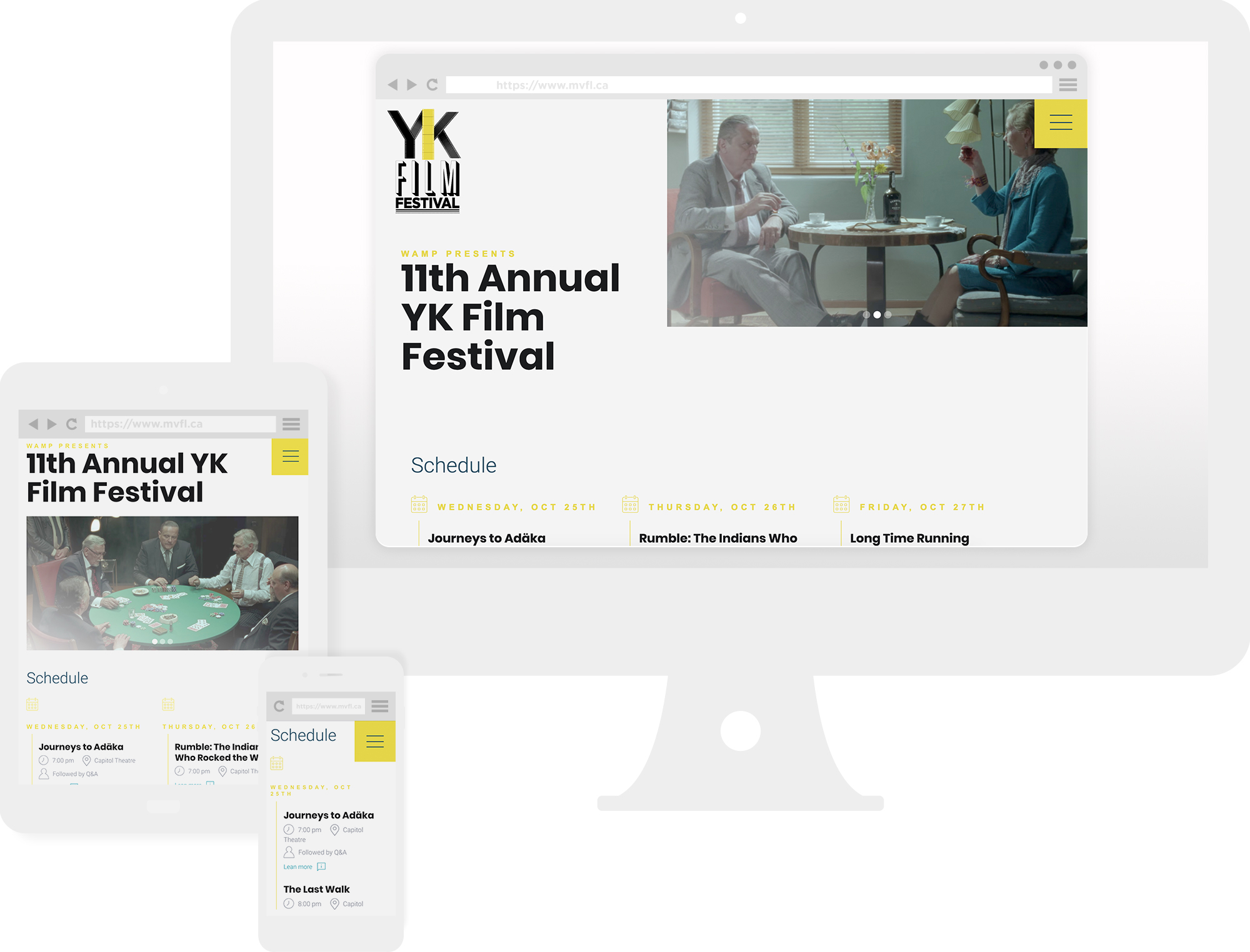 sample of YK Film Festival's Website