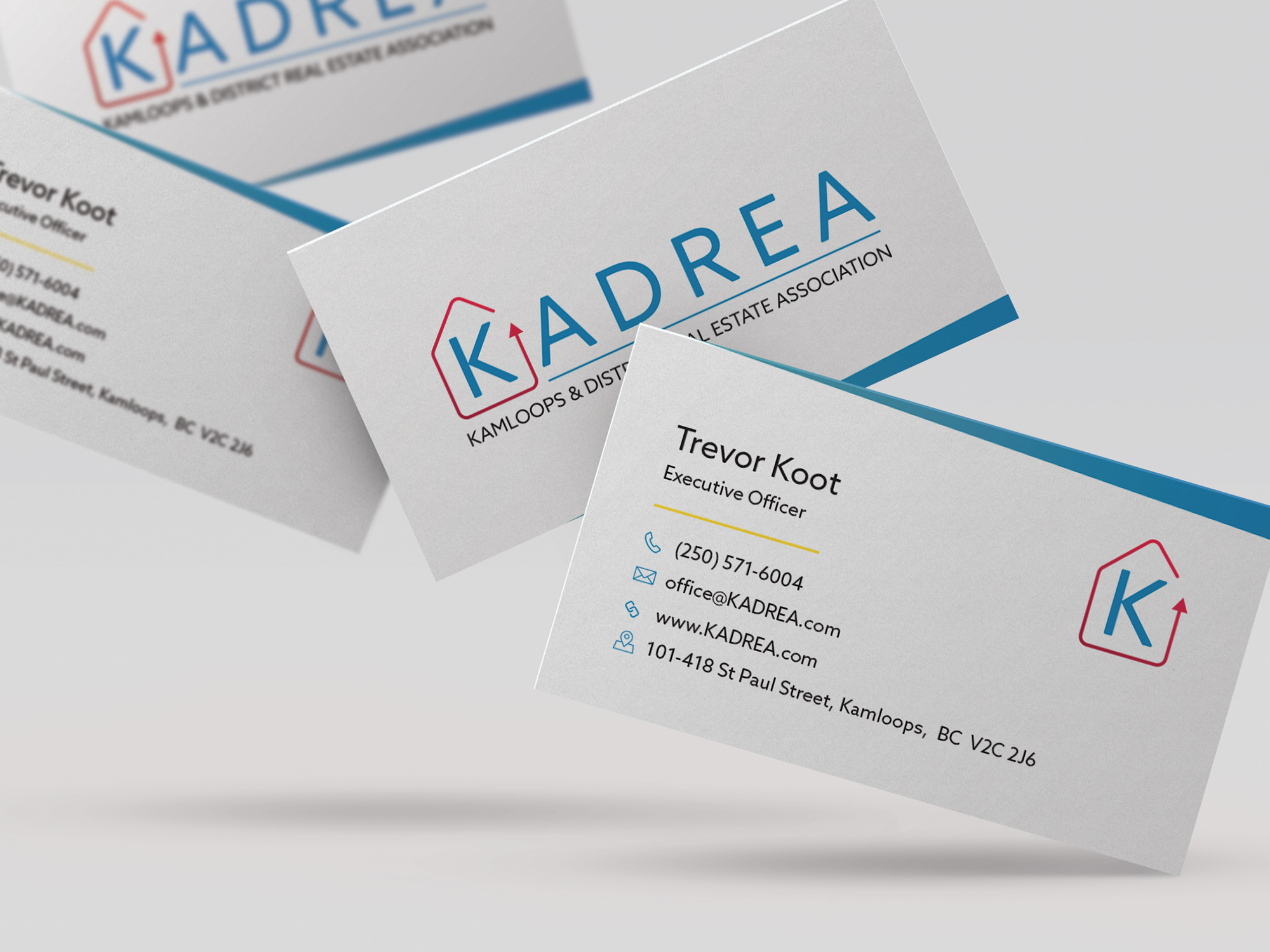 KADREA's new business card design.