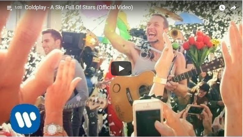 Coldplay bei Auftritt