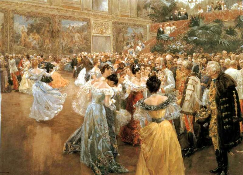Historisches Bild vom Wiener Walzer Opernball