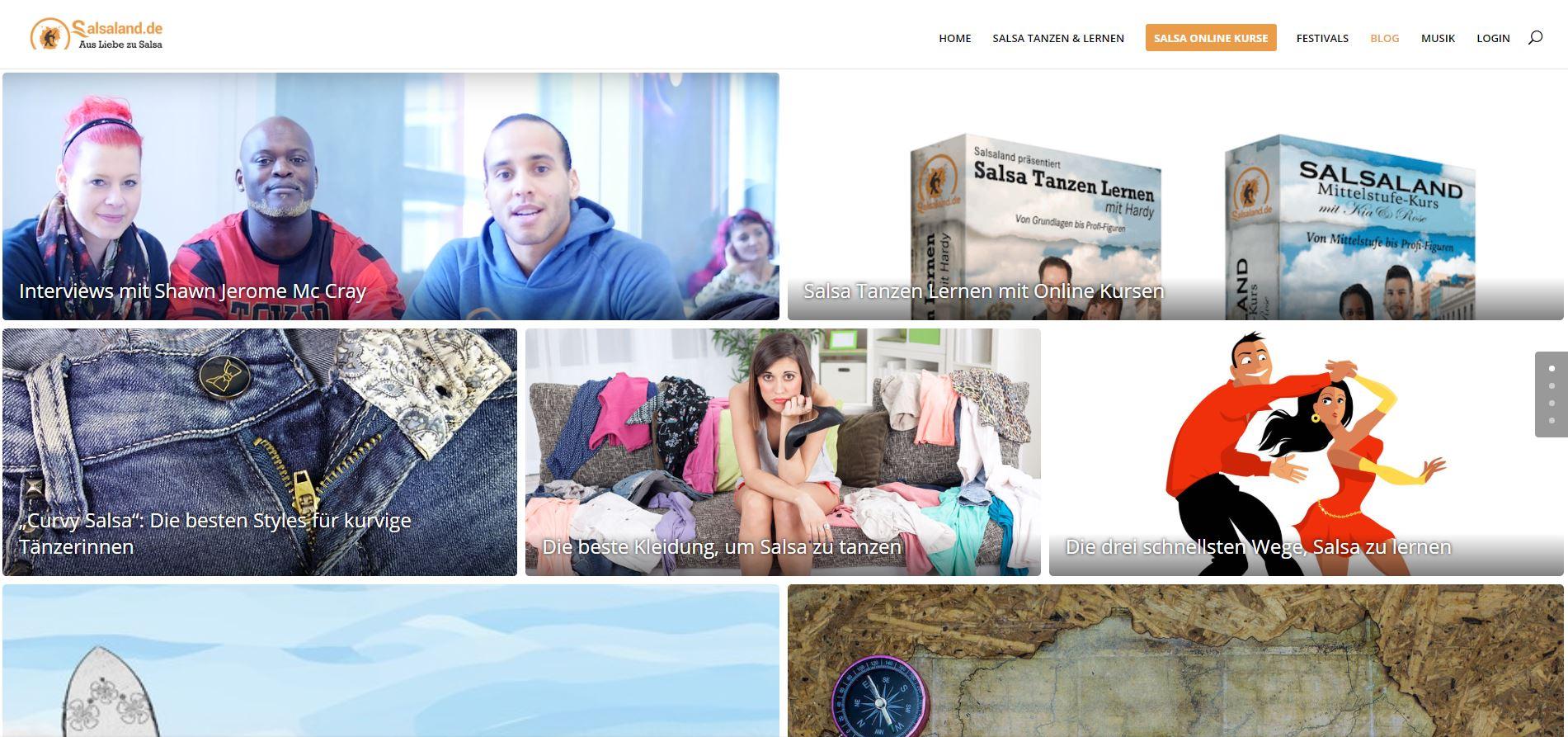 Screenshot Blog Salsaland
