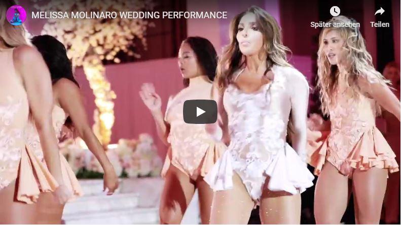 Melissa Molinaro während Hochzeitstanz Choreografie