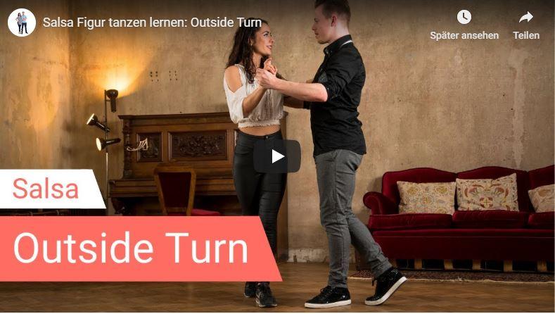Salsa-Tanzlehrer tanzen Outside Turn
