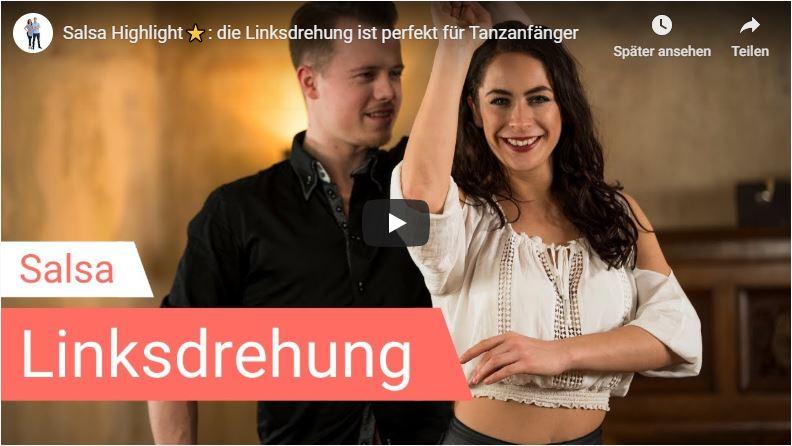 Salsa-Tanzlehrer tanzen Linksdrehung