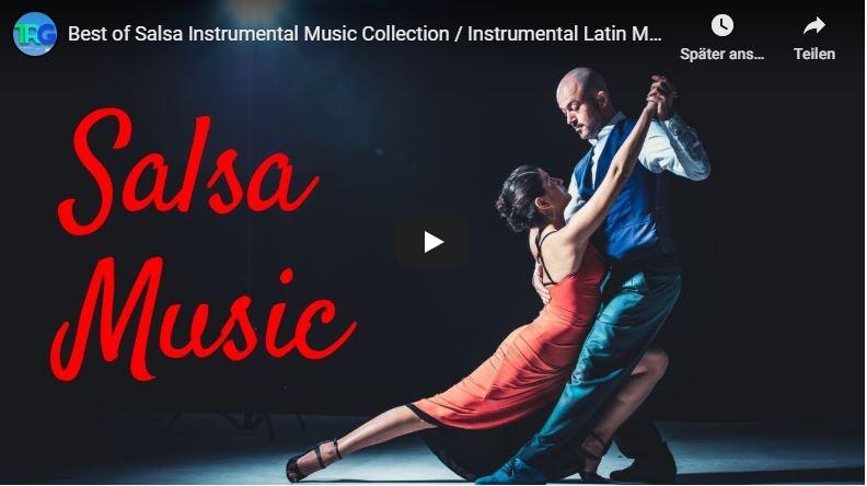 Paar tanzt hingebungsvoll Salsa-Musik.