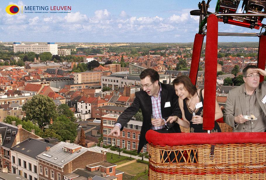 Funpix foto voor België in luchtballon