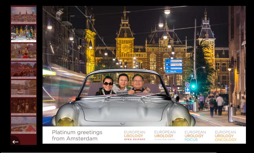 Online photobooth voorbeeld van Funpix green screen fotografie