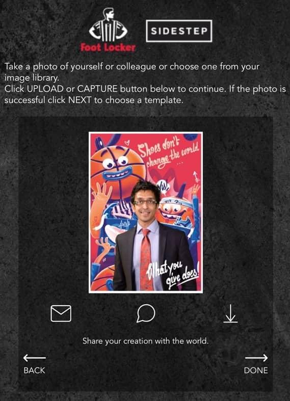 Foto van online photo booth resultaat op smartphone