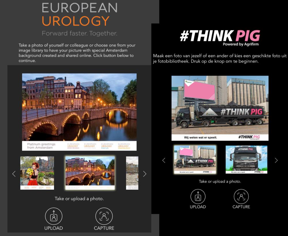 Schermafbeelding van photobooth online
