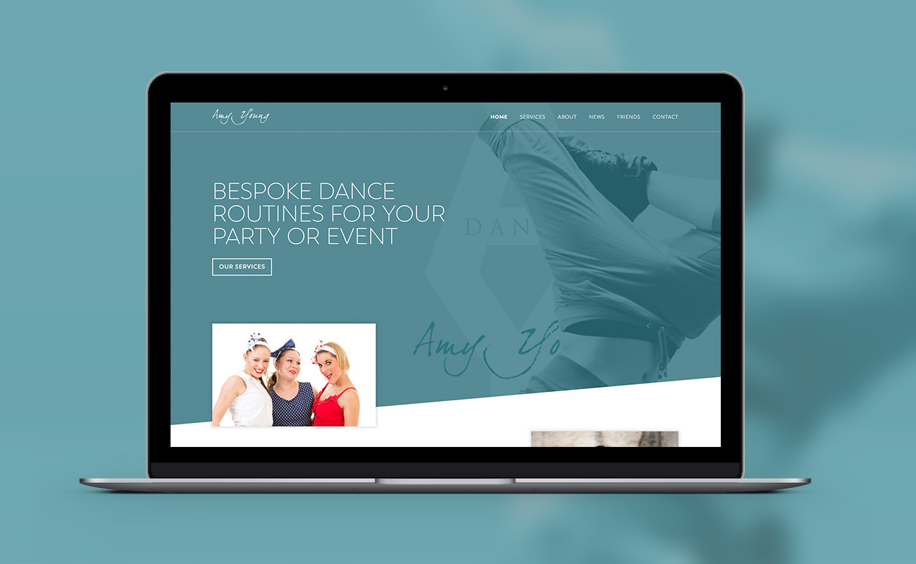 Amy Young Dance screenshot of our new news page
