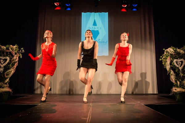 Amy Young Dance group on stage