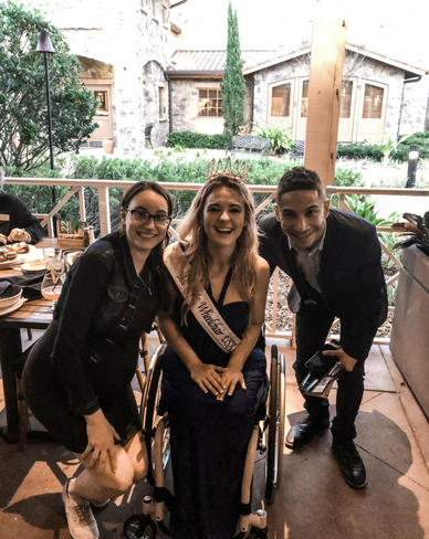 Adrian Trotter and Danielle Trotter with Ms Wheelchair USA