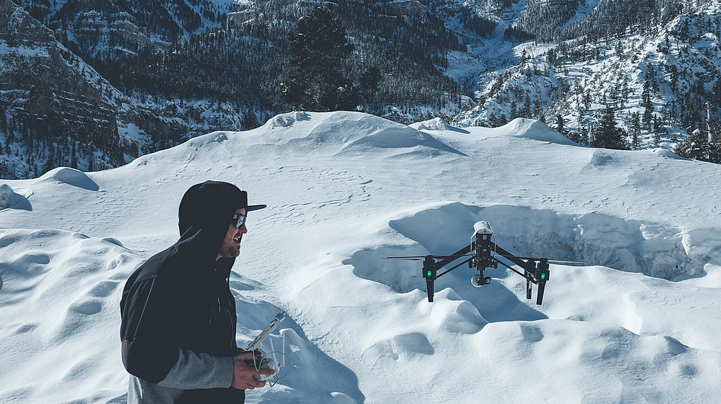 DJI Inspire Flying Snow
