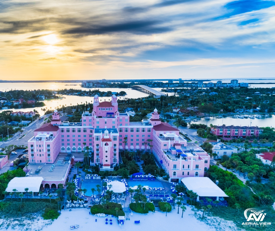 Aerial footage of hotel in Florida