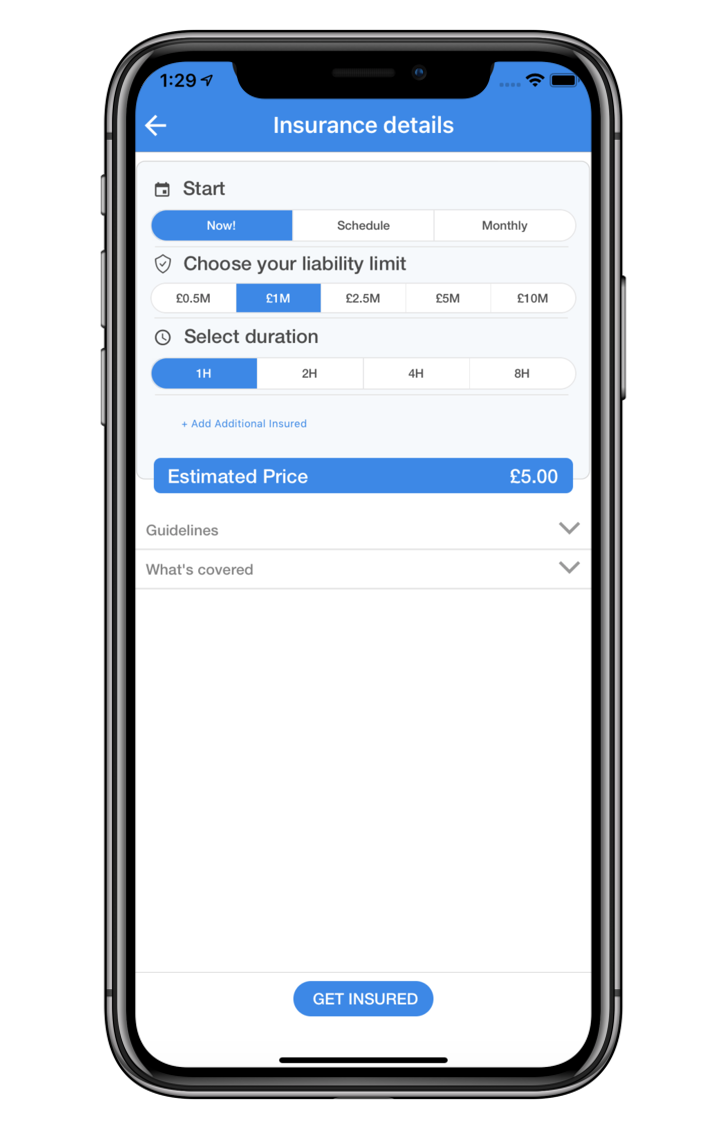 Insurance Details SkyWatch.AI app