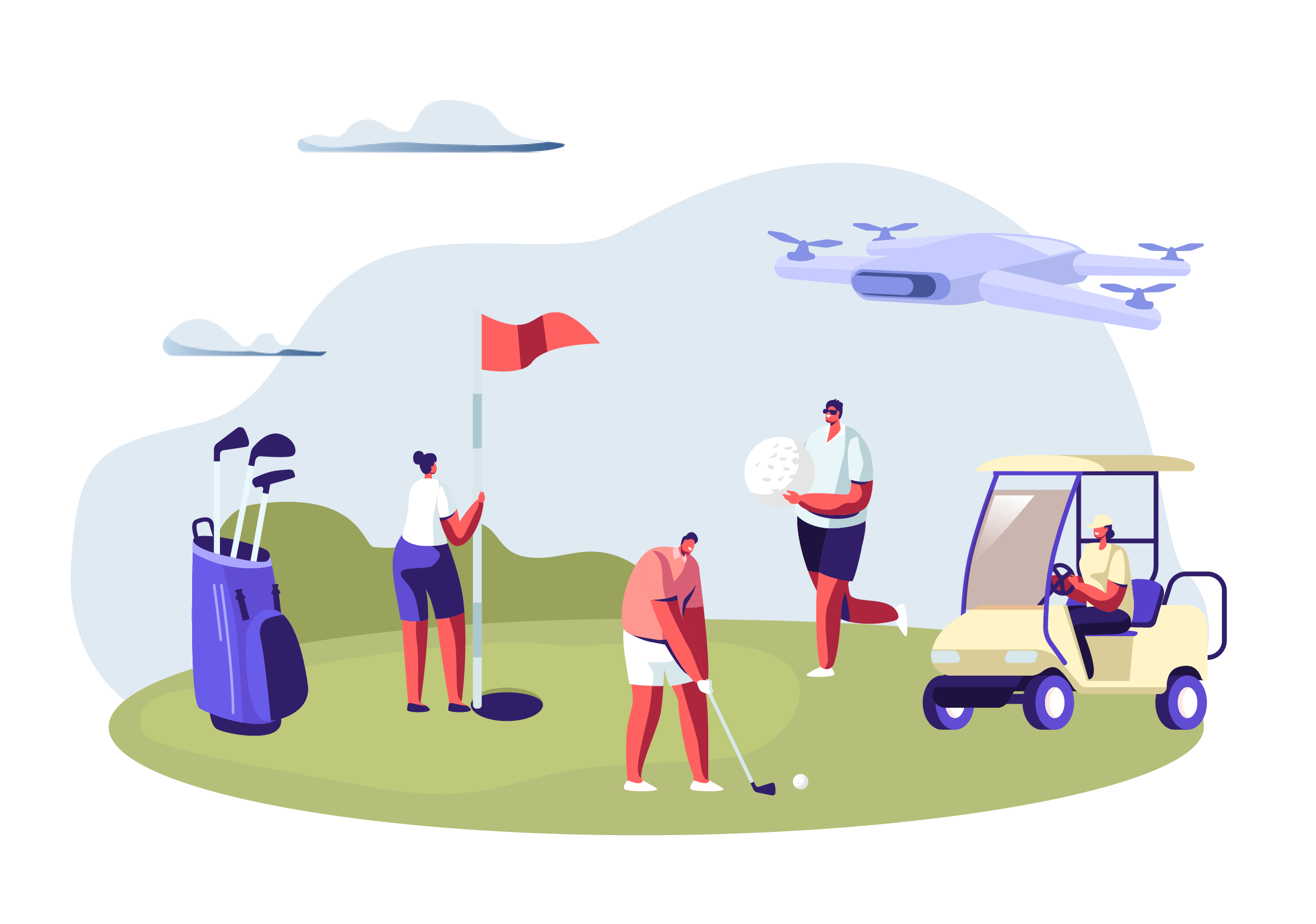 How an AgroDrone Company Assessed a Golf Club for Better Turf Management