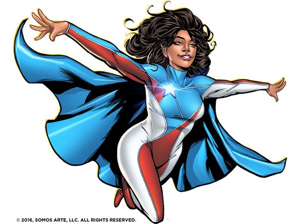 La Borinqueña image flying in costume