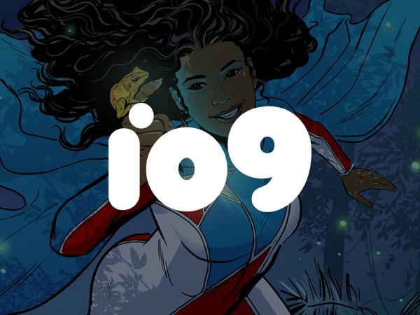 Cover image for La Borinqueña superhero in magazine io9
