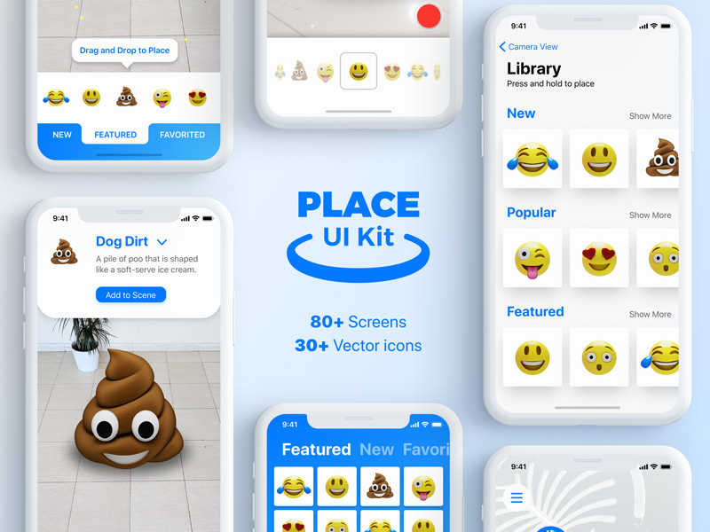 place ui kit ar augmented reality ui kit for design mobile ar application arkit