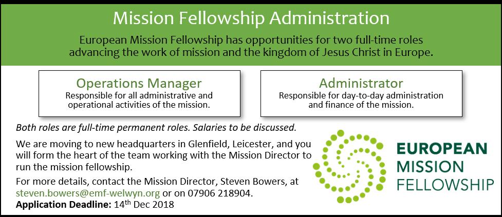 EMF Admin Positions