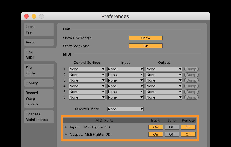 Midi Fighter 3D - Setup